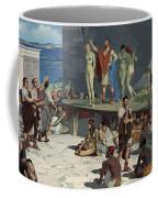 Men Bid On Women At A Slave Market Coffee Mug by H.M. Herget