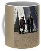 Men Talking Coffee Mug