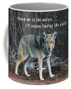 Menacing Wolf In The Woods Lead The Pack Coffee Mug