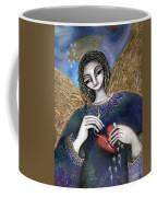 Mender Of Hearts Angel Coffee Mug by Prerna Poojara