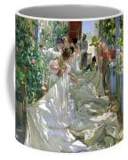 Mending The Sail Coffee Mug by Joaquin Sorolla y Bastida