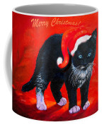Meow Christmas Kitty Coffee Mug
