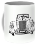Mercedes Benz 300 Luxury Car Illustration Coffee Mug