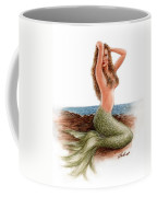 mermaid On The Shore Coffee Mug