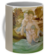 Mermaid With Her Offspring Coffee Mug