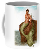 Merman On The Rocks Coffee Mug