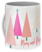 Merry And Bright Trees- Art By Linda Woods Coffee Mug