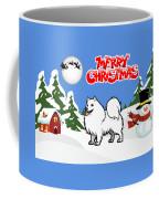 Merry Christmas American Eskimo Dog  Coffee Mug