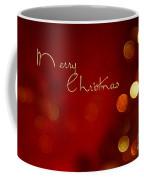 Merry Christmas Card - Bokeh Coffee Mug