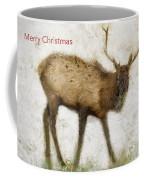 Merry Christmas Elk Greeting Card Coffee Mug