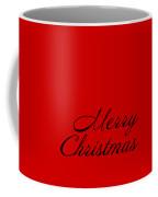 Merry Christmas In Black Coffee Mug