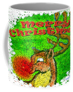 Merry Christmas Reindeer Coffee Mug