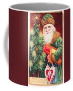 Merry Christmas Santa Delivers Gifts Vintage Card Coffee Mug