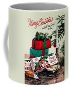 Merry Christmas Vintage Cigarette Advert Coffee Mug