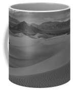 Mesquite Sand Dunes Black And White Panorama Coffee Mug