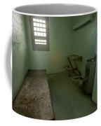 Metal Bed Inside Solitary Confinement Cell Coffee Mug
