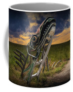 Metal Monster Emerging From The Earth Coffee Mug