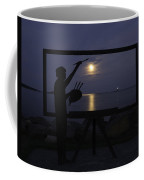 Metal Sculpture Of Painter Coffee Mug