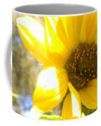 Metallic Green Bee In A Sunflower Coffee Mug