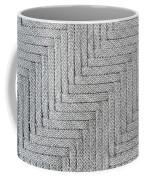 Metallic Grey Rope Weaved Pattern Coffee Mug