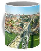 Metro Train Over Porto Bridge Coffee Mug