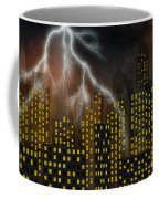 Metropolis At Stormy Night Coffee Mug