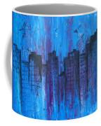 Metropolis In Blue Coffee Mug