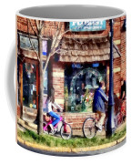 Metuchen Nj - Bicyclists On Main Street Coffee Mug