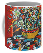 Mexican Vase With Spring Flowers Coffee Mug