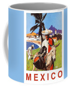 Mexico, Mexican Posing With Donkey Coffee Mug