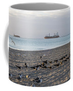 Miami Beach Flock Of Birds Sunrise Coffee Mug