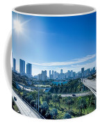 Miami Florida City Skyline And Streets Coffee Mug