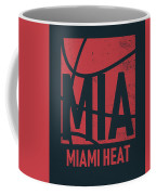 Miami Heat City Poster Art Coffee Mug