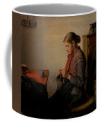 Michael Ancher - Skagen Girl, Maren Sofie, Knitting. Coffee Mug