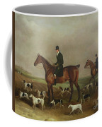 Michael Beverley With His Whipper In And Harriers Coffee Mug
