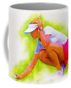 Michelle Wie Of Usa Lined Her Ball Coffee Mug