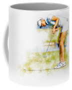 Michelle Wie Of Usa Putting At The  Lpga Lotte Championship  Coffee Mug