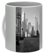 Michigan Ave Tall B-w Coffee Mug