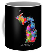 Michigan Map Color Splatter 2 Coffee Mug