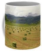 Mid June Colorado Hay  And The Twin Peaks Longs And Meeker Coffee Mug