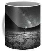 Midnight Explorer At Badwater Basin Bw Coffee Mug