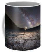 Midnight Explorer At Badwater Basin  Coffee Mug