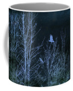 Midnight Flight Silhouette Blue Coffee Mug