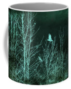 Midnight Flight Silhouette Teal Coffee Mug