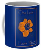 Midnight Orange Passion Flower Coffee Mug