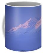 Midnight Sunset On Polar Mountains Coffee Mug by Gordon Wiltsie