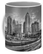Midtown Atlanta Dusk B W Atlanta Construction Art Coffee Mug
