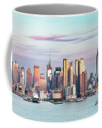 Midtown Manhattan Skyline At Sunset, New York City, Usa Coffee Mug