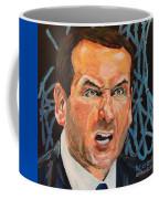 Mike Krzyzewski Aka Coach K Portrait Coffee Mug