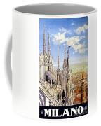 Milan Travel Print Coffee Mug